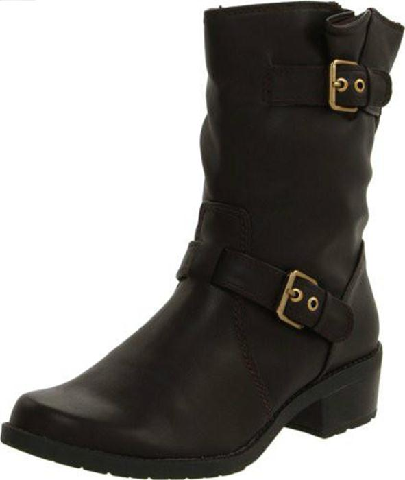 Anne Klein Laski Womens Ankle Boots Sz 7 5 M Dark Brown 1 1 2 Heel